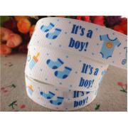 """Лента репсовая """"It's a Boy!"""" 2,5см"""