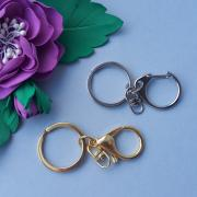 Кольцо с карабином для ключей