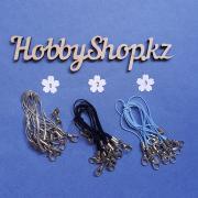 Шнурок для брелка с карабином (10шт)