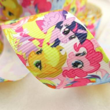 Лента репсовая My Little Pony радуга 2,5см