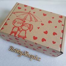 Коробка БУРАЯ Зонтик 230х170х75мм