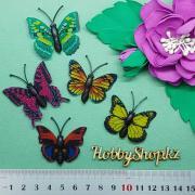 Бабочки декоративные с блеском 4см (5шт)