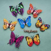 Бабочки декоративные 3D 7см (5шт)